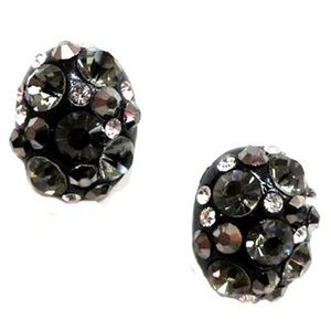 Black Mixed Crystal Post Earring,NWT